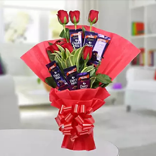 Gift Chocolate Rose Bouquet to your love on this Valentine's Day