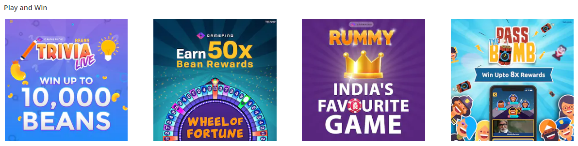 Paytm Cash Games Offers - Gamepind APK Offers - Win upto Rs